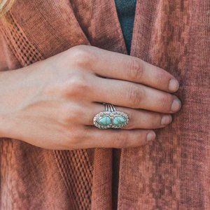 The Lovers Candelaria Turquoise Ring